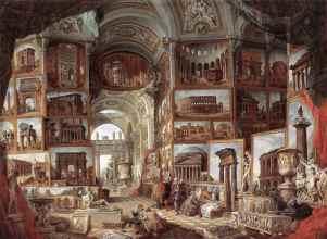 Giovanni Paolo Panini,Galerie des vues de la Rome Antique,1758, Musée du Louvre